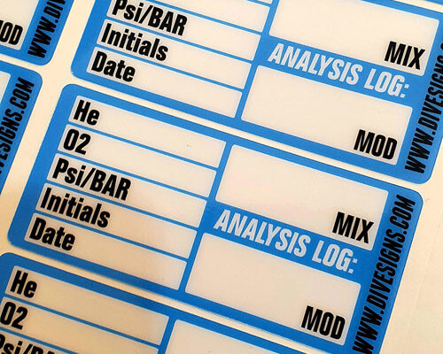Gas Analysis Stickers
